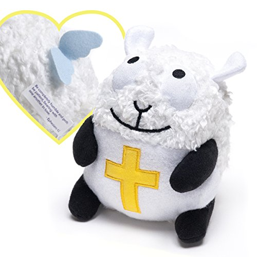 (Lamb Angel with Bible Verse Christian Stuffed Toy for Easter, Baptism and more - Ira the Lamb)