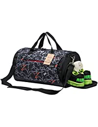 15c5a325f191 Sports Gym Bag with Shoes Compartment Travel Duffel Bag for Men and Women