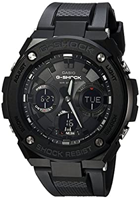 Casio Men's 'G Shock' Quartz Stainless Steel and Resin Casual Watch, Color:Black (Model: GST-S100G-1BCR) from Casio