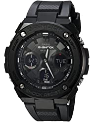 Casio Mens G SHOCK Quartz Stainless Steel and Resin Casual Watch, Color:Black (Model: GST-S100G-1BCR)
