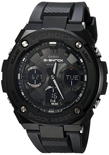 Casio Men's G Shock Stainless Steel Quartz Watch with Resin Strap, Black, 27 (Model: GST-S100G-1BCR) (Black Stainless Steel Mens Watch)
