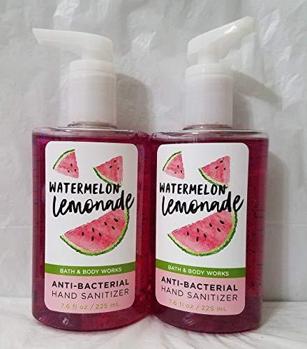 Bath and Body Works 2 Pack Watermelon Lemonade Anti-Bacterial Hand Sanitizer 7.6 Oz / 225 ml