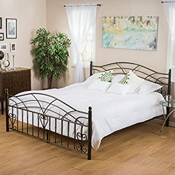 edsel king size iron bed in copper gold finish