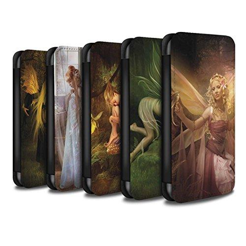 Offiziell Elena Dudina PU-Leder Hülle/Case/Tasche/Cover für Apple iPhone X/10 / Pack 10pcs Muster / Elegante Feen Kollektion