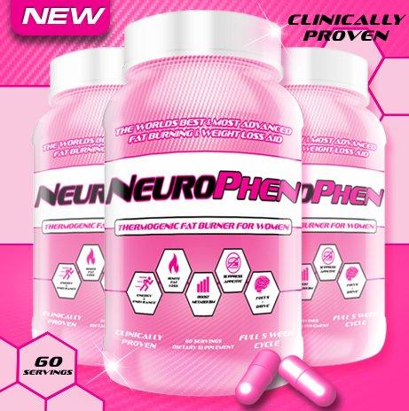 NeuroPhen Le meilleur thermogénique Fat Burner, supplément de perte de poids, des pilules de régime pour les femmes d'appétit, Fat métaboliseur, de contrôle des eaux Diurétique, Fat Blocker, Energy Booster et Focus améliorée. Forme et le ton - 60 Portions