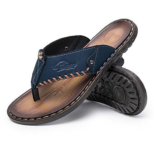 Para Zapatillas Verano Chanclas Hombre Y 46 Azul Playa Zapatos Flop Negro Paseo 38 Flip De Goma Sandalias Deportivas Cuero Marrón Piscina Cómodas dxEXqXw
