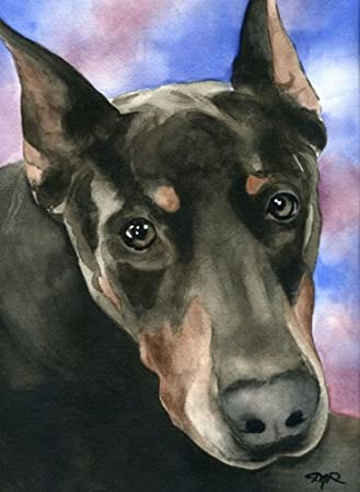 Manchester Terrier Abstract Watercolor Painting Art Print by Artist DJ Rogers