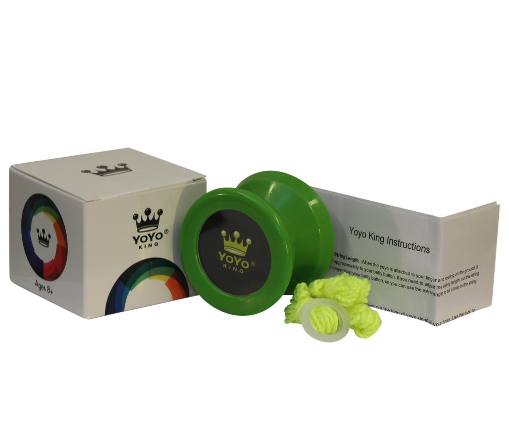 Yoyo King Green Merlin Professional Responsive Yoyo with Narrow C Bearing and Extra String by Yoyo King (Image #4)