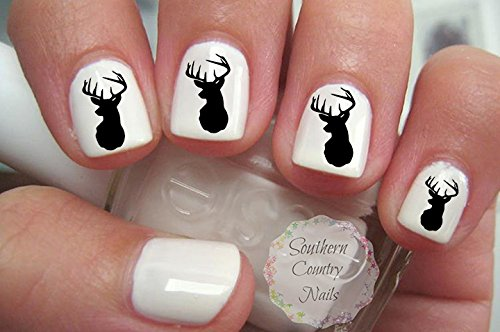 Deer Head Nail Art Decals (Deer Nail Decals)