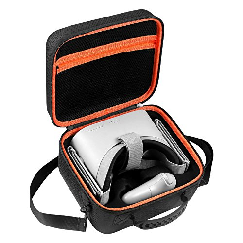 D DACCKIT Travel Carrying Case Compatible with Oculus Go - Fit Oculus Go Virtual Reality Headset, Remote Controller, Power Adapter and Charging Cable