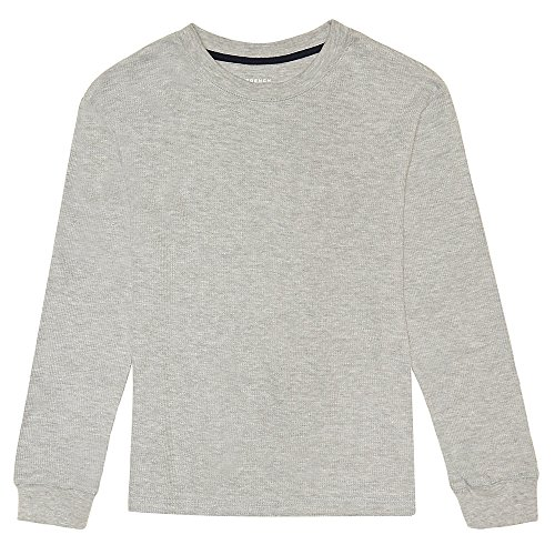 French Toast Little Boys' Long Sleeve Thermal Shirt, Heather Gray, (Gray Thermal Long Sleeve Shirt)