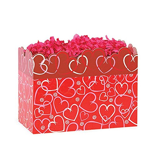 Small Layered Hearts Basket Boxes - 6.75 x 4 x 5in. 42 Pack by NW