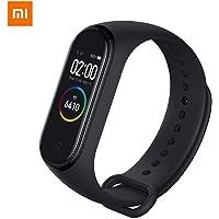 eiAmz Xiaomi Mi Band 4 Pulsera de Actividad,Monitores de Actividad,Pantalla Pulsómetro Fitness Tracker, Pulsera Smartwatch con 0.95 Pantalla AMOLED a Color,con iOS y Android,Negro(Versión Global)
