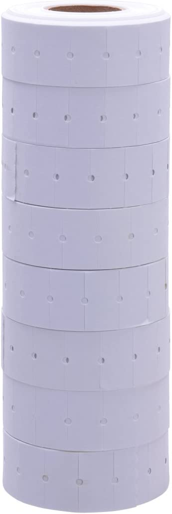 Free Ink roll Included White Labels Without Tamper Proof Slits to fit Towa GS Series//Halmark//Century Price Guns 16 Pack
