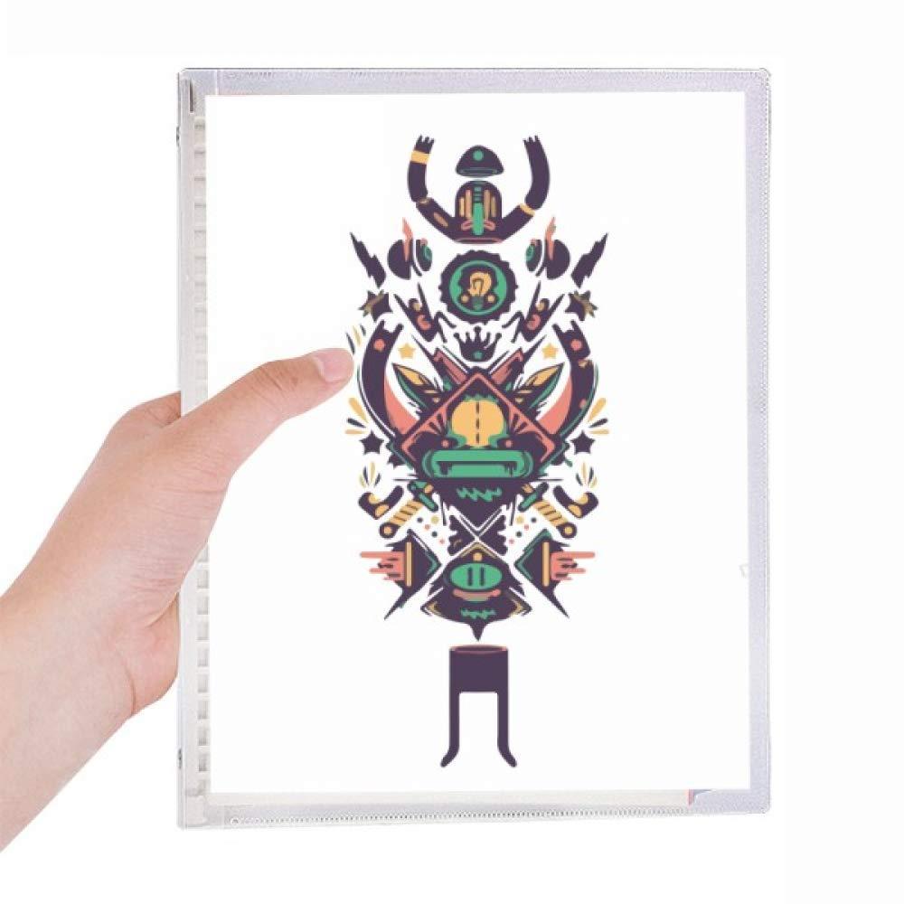 Cuaderno de tatuaje de esqueleto humano indio de hojas sueltas en ...