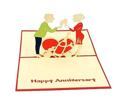 Amazon isharecards papercraft handmade 3d pop up greeting isharecards papercraft handmade 3d pop up greeting cards for valentines loverscouples happy anniversary m4hsunfo