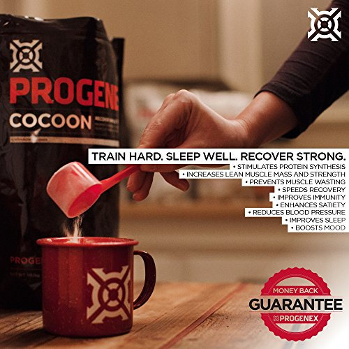 PROGENEX® Cocoon | Micellar Casein Protein Powder | Nighttime Rest and Muscle Recovery Supplement and Sleep Aid | 30 Servings, Silk Chocolate