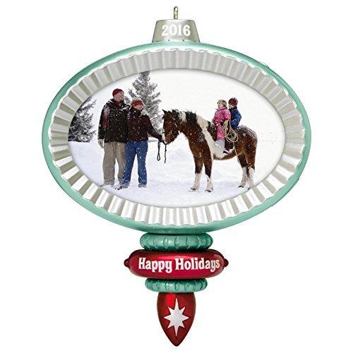 Hallmark Keepsake 2016 Family Photo Holder Recordable Ornament ()