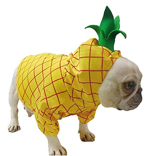 Pineapple Pet Costume, Halloween Pet Dogs Cosplay Coat for Party Christmas Special Events Costume