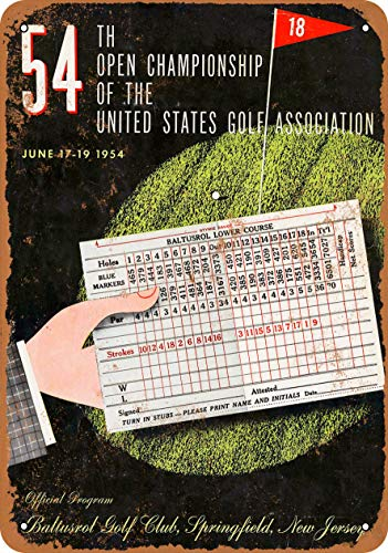 7 x 10 Metal Sign - 1954 US Open Baltusrol Golf Club - Vintage Look