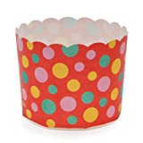 Welcome Home Brands MS8801 Red Dot Paper Baking Cup 5.1-Ounce Volume, 2.3 Inch Diameter x 2 Inch High - Pack of 100
