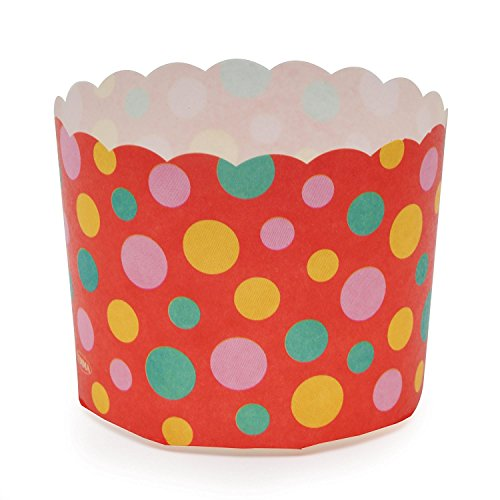 Welcome Home Brands MS8801 Red Dot Paper Baking Cup 5.1-Ounce Volume, 2.3 Inch Diameter x 2 Inch High - Pack of 100 by Welcome Home Brands