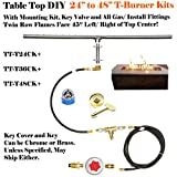 T48CK+: DO IT YOURSELF DELUXE PROPANE FIRE PIT KIT & 48″ LINEAR 316 STAINLESS STEEL T-BURNER. (not Lessor 304 steel) See EasyFirePits.com For Manufacturer Pricing! Review