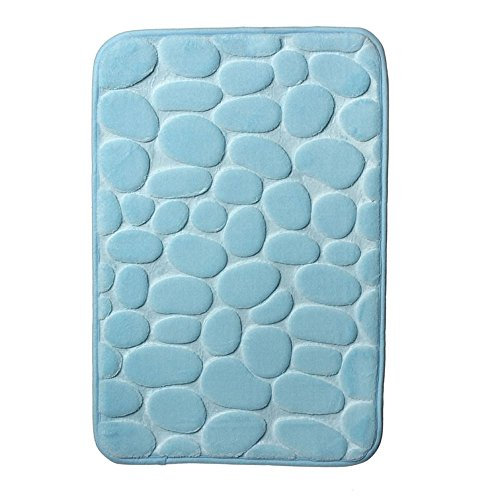 Price comparison product image 60*40cm Piving room bedroom plush mat Rugs Pebble Memory Foam Bath Mat Carpet Floor Mats