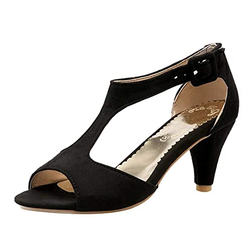 Mujer Tacón Medio Sandalias Zapatos Beiamina T StrapAmazon es Moda rxoeWdBC