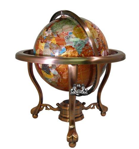Amber Gemstone Globe (Unique Art 13