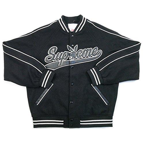 SUPREME シュプリーム ×Playboy 17AW Wool Varsity Jacket ジャケット 黒 S 並行輸入品 B07CTDQG1P