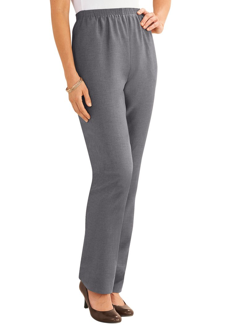 Alfred Dunner Pull-on Pants Gray 16