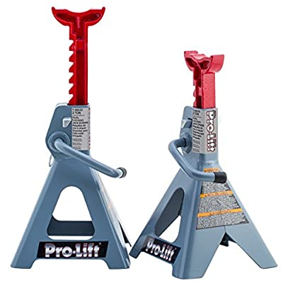 Pro-Lift T-6902D Double Pin Jack Stands - 2 Ton, 1 Pack