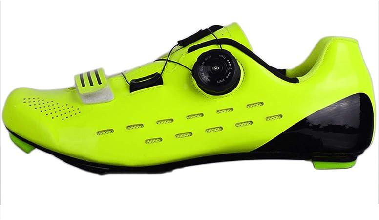 LIXIYU Zapatillas de Ciclismo Zapatos para Hombre Montando Bicicleta de Carretera de montaña de Formación de Zapatos Zapatos de Fibra de Carbono Ligero, Zapatos,Green-39: Amazon.es: Hogar