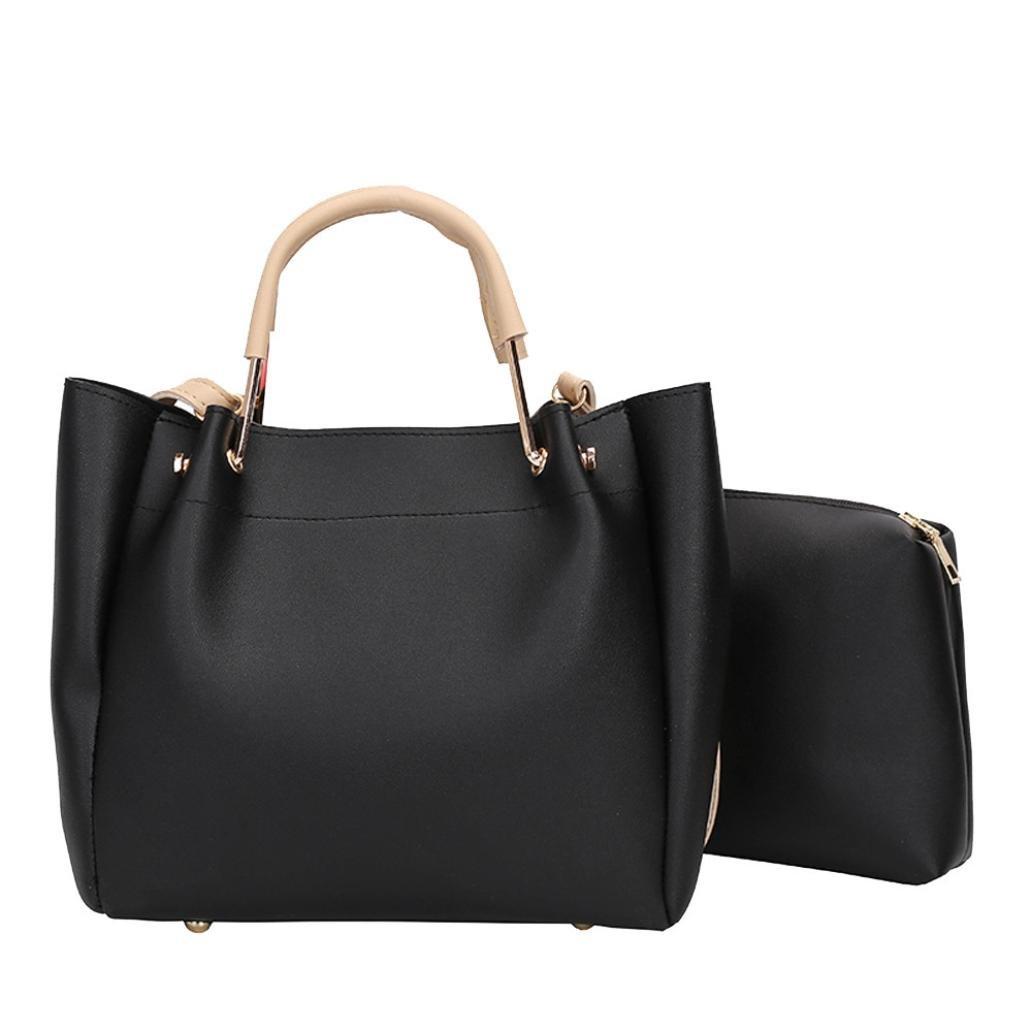 7b70b6cae110 Amazon.com  Two Set Women Handbag Shoulder Bags Two Pieces Tote Bag  Crossbody Bag by VESNIBA  Shoes