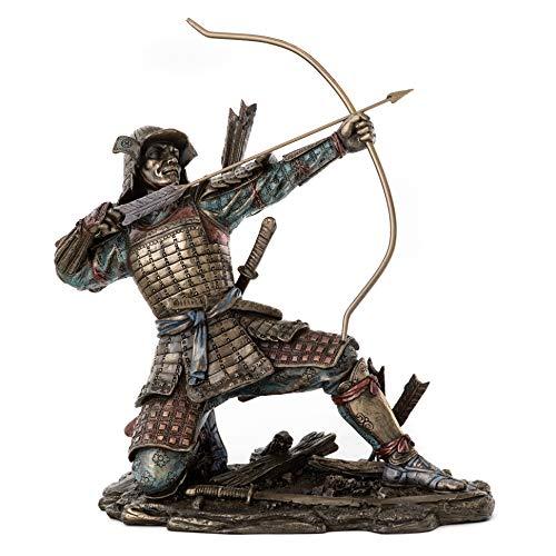 Top Collection Japanese Samurai Archer Statue - Yayoi Bushido Warrior Sculpture in Cold Cast Bronze - 10.5-Inch Figurine