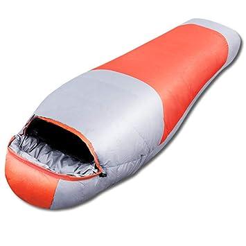 DONGY Abajo de la Bolsa de Dormir Caliente Empatible al Aire Libre portátil Pato Blanco durmiendo