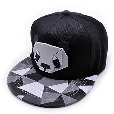 Baseball Hat, Boys Girls Cute 3D Panda Cotton Trucker Cap Snapback Golf Ball Hip-Hop Flat Hat Summer Casual Sports Caps from Challyhope