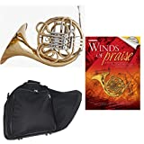Band Directors Choice Double French Horn Key of F/Bb - Winds of Praise Pack; Includes Intermediate French Horn, Case, Accessories & Winds of Praise Book
