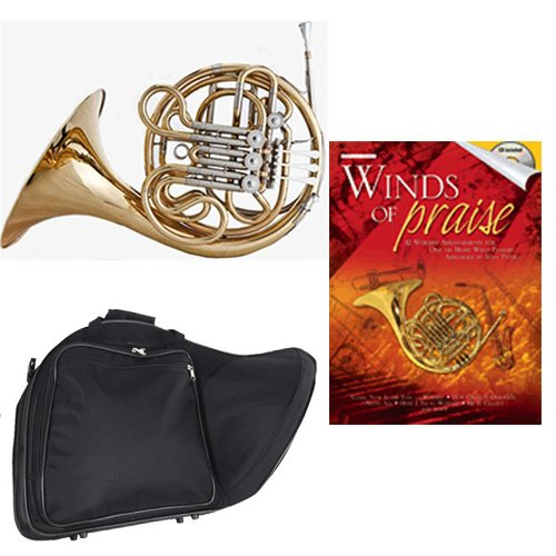 Band Directors Choice Double French Horn Key of F/Bb - Winds of Praise Pack; Includes Intermediate French Horn, Case, Accessories & Winds of Praise Book by Double French Horn Packs
