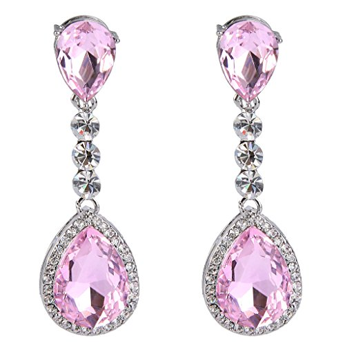 BriLove Teardrop Infinity Chandelier Earrings product image