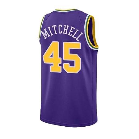 Ropa Desgaste del Equipo Donovan Mitchell 45 Chaleco del Verano ...