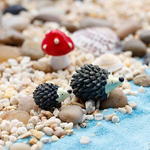 MIRRAY Mossfairy Adorno en Miniatura Erizo Set de Setas Decoración Jardín de Hadas: Amazon.es: Hogar