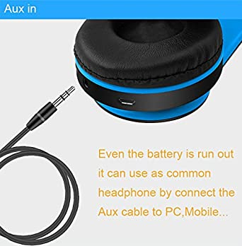 Amazon.com: Desxz Bluetooth Headphones Over Ear, Hi-Fi Stereo Wireless Headset, Foldable, Soft Memory-Protein Earmuffs, w/Built-in Mic FM and Wired Mode for ...