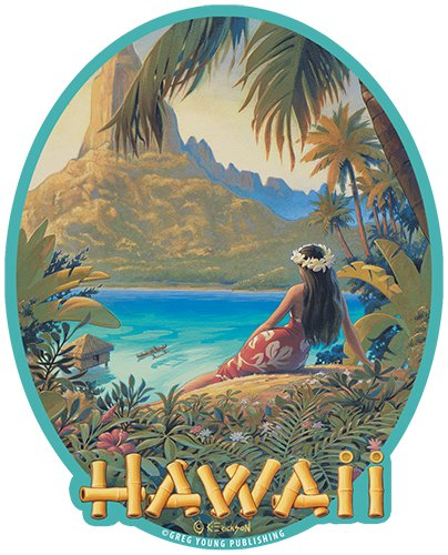 Used, Hawaiian Art Decal - Car Window Bumper Sticker - Hawaii for sale  Delivered anywhere in Canada
