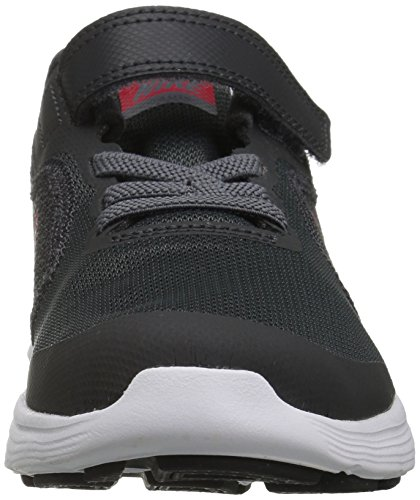 NIKE Kids' Revolution 3 (Psv) Running-Shoes, Black/University Red/Dark Grey, 1 M US Little Kid by Nike (Image #4)