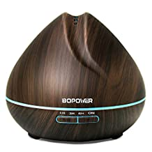 Essential Oil Diffuser- ABOX Bopower Aroma Diffuser with Multi-color LED Night Lights, 3 Timer Setting, Auto Shut-off Features Cool Mist Humidifier, 400ml
