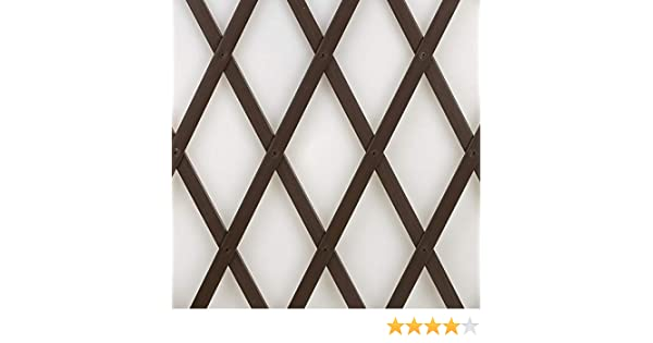 Tenax Treplas 1, 00 x 1 m, marrón, celosía extensible de PVC para ...