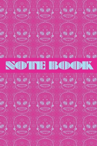 Notebook: Sugar Skull - Day of The Dead - Composition Book .  Cornell Notes  - Pink Blue Sugar Skull Tiled -