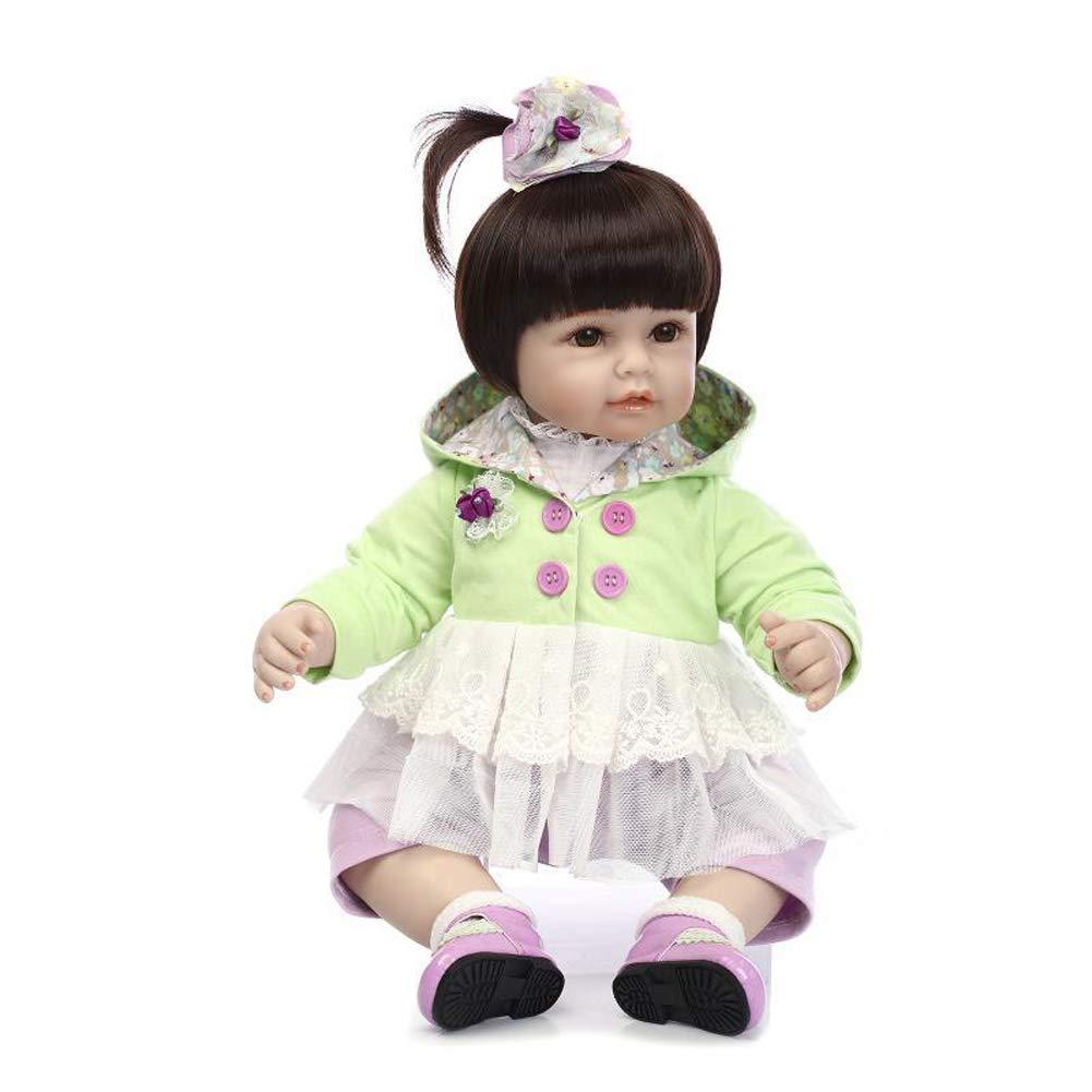 IIWOJ Reborn muñeca bebé 20 Pulgadas de Cuerpo Completo Silicona-Realista Respetuoso del Medio Ambiente Regalo Hecho a Mano niño Seguro/no tóxico